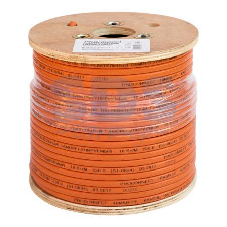 Саморегулируемый греющий кабель 10MSR-PF (10Вт/1м), 100М Proconnect акустический кабель 2х0 75 кв мм красно черный 100м proconnect 01 6104 6