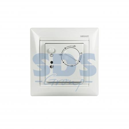 Терморегулятор механический RX-308B (белый) REXANT (совместим с Legrand серии Valena)