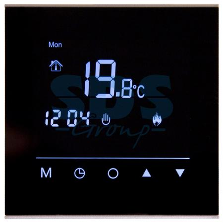 цена на Терморегулятор сенсорный программируемый R300B (черный) REXANT