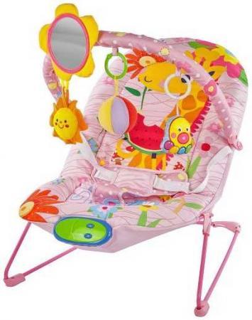 Кресло-качалка Жирафики Милашка пластик от 2 месяцев музыкальная розовый 939431