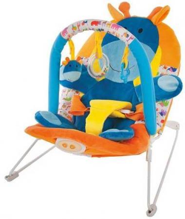 Кресло-качалка Жирафики Жирафик пластик от 2 месяцев музыкальная оранжевый 939432 кресло прыгунки fisher price тропический лес от 9 месяцев разноцветный пластик музыкальная chn38
