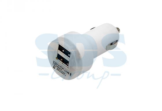 Автозарядка в прикуриватель 2хUSB с индикацией (АЗУ) (1 000+2 100mA) белая REXANT автозарядка в прикуриватель 2хusb с индикацией азу 1 000 2 100ma белая rexant 18 1189