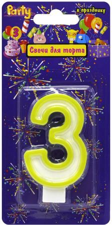 Свеча-Цифра 3 для торта , разноцветная, 7см, материал: парафин 2019 sonicwalker optical glasses gentle eyeglasses reading glasses women men eyewear frames myopia prescription glasses