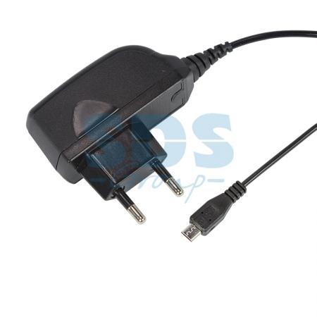Сетевое зарядное устройство microUSB 220В (СЗУ) (5V, 1000mA) шнур 1М черное REXANT зарядное устройство activ 5v 2 0a 39503