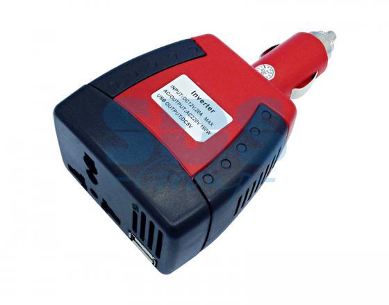 Автомобильный инвертор 75W 12V - 220V c USB портативный REXANT автомобильный инвертор rexant 12v 220v c usb