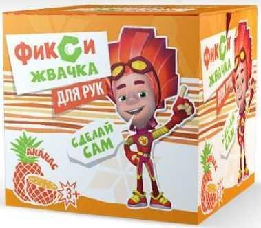 Комплект Инновации для детей Юный Химик Фикси Жвачка рук Ананас желтый 885