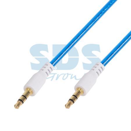 Аудио кабель AUX 3.5 мм гелевый 1M синий REXANT руи мин la282801 aux аудио кабель автомобильного аудио кабель aux аудио кабель 3 5 мм медного сердечника провода хорошо известный красный 1м