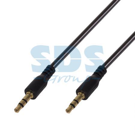 Аудио кабель AUX 3.5 мм гелевый 1M черный REXANT руи мин la282801 aux аудио кабель автомобильного аудио кабель aux аудио кабель 3 5 мм медного сердечника провода хорошо известный красный 1м