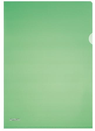 Папка-уголок ПИРАМИДА, ф.А4, зеленая