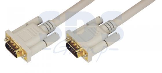 Шнур VGA plug - VGA plug 1.8М (серый) REXANT 10pcs lot db15 3rows parallel vga port hdb9 15 pin d sub male solder connector metal shell cover