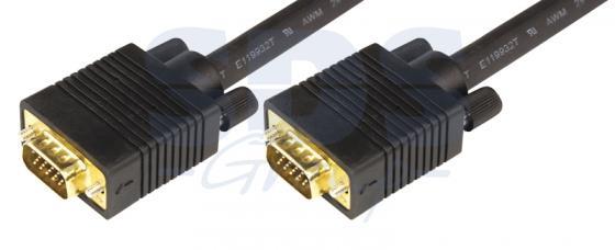 Шнур VGA plug - VGA plug 3М gold с ферритами REXANT 10pcs lot db15 3rows parallel vga port hdb9 15 pin d sub male solder connector metal shell cover