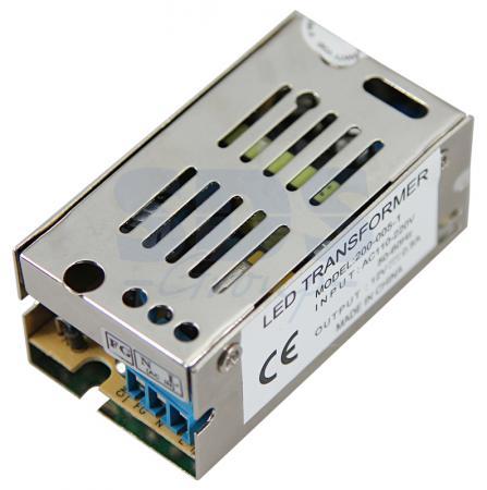 Источник питания 110-220V AC/12V DC, 0,5A, 5W с разъёмами под винт, без влагозащиты (IP23) источник питания accordtec at 12 30 2 white 12v