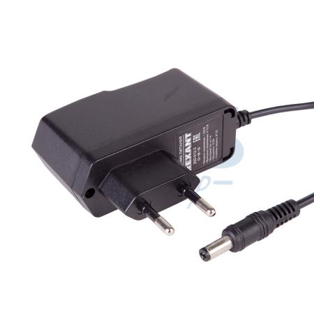 Источник питания 110-220V AC/12V DC, 1А, 12W с DC разъемом подключения 5.5*2.1, без влагозащиты (IP23)
