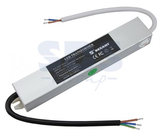 Источник питания 110-220V AC/12V DC, 2А, 24W с проводами, влагозащищенный (IP67) high quality 3kw 3000w dc 12v to ac 220v 240v pure sine wave power inverter with 10a charger automatic ac transfer switching