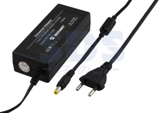 Источник питания 110-220V AC/12V DC, 6А, 72W с DC разъемом подключения 5.5*2.1, без влагозащиты (IP23)
