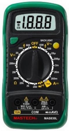 Портативный мультиметр MAS830L MASTECH mastech ms6252a handheld lcd digital electronic wind speed meter