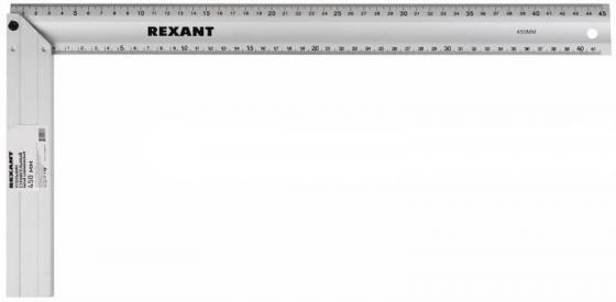 Угольник строительный литой алюминиевый 450 мм Rexant цена