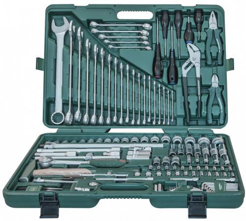Набор торцевых ключей и принадлежностей JONNESWAY S04H524128S 128 предметов набор торцевых шестигранных ключей jonnesway h02mh118s