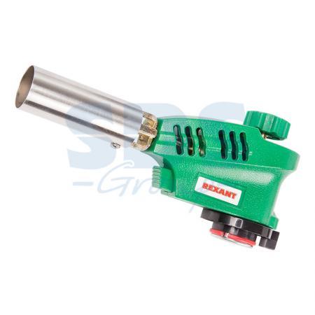 Газовая горелка-насадка REXANT GT-20 с пьезоподжигом газовая горелка kovea ткв 9703 1l со шлангом