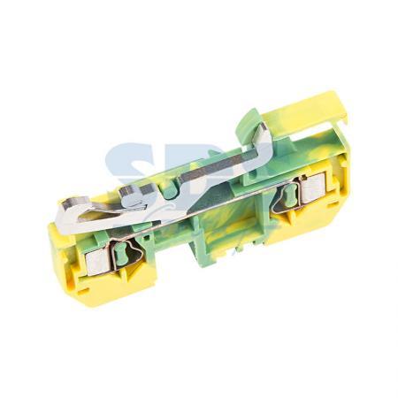 FJ1-4/D 281-907 Клемма с заземлением серии FJ1 2-к, 4 кв. мм клемма аккумулятора к т 12 24в до 600а vettler