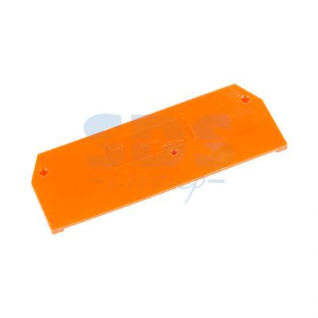 P9-4/3/O Торцевая пластина для клемм серии FJ1, 4 кв. мм., 3 конт. оранж.
