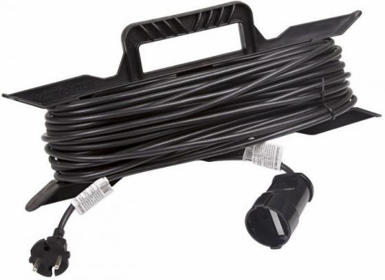 Удлинитель на рамке 20м (1 роз.) 2х0.75 черный REXANT (Сделано в РОССИИ) удлинитель stayer 20м на рамке 55018 20