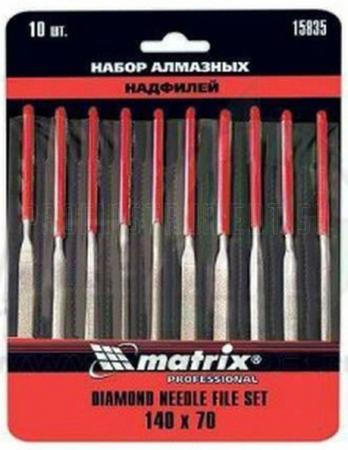 Набор надфилей MATRIX 15835 алмазных 140х70х3 10шт master набор надфилей matrix 15816