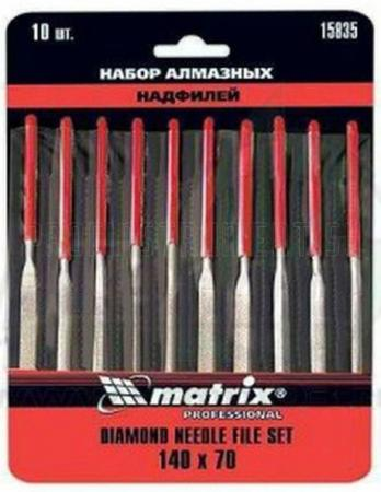 Набор надфилей MATRIX 15835 алмазных 140х70х3 10шт master набор алмазных надфилей 140х70х3 10 шт matrix master 15835