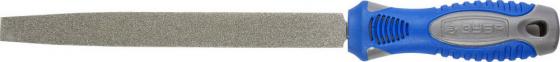 Напильник ЗУБР 33390-200-120 ЭКСПЕРТ с алмазным напылением плоский P120 200мм напильник зубр 33392 200 120 эксперт с алмазным напылением полукруглый p120 200мм