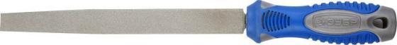Напильник ЗУБР 33390-200-400 ЭКСПЕРТ с алмазным напылением плоский P400 200мм zinger пилка diamond тонкая с алмазным напылением 132 мм