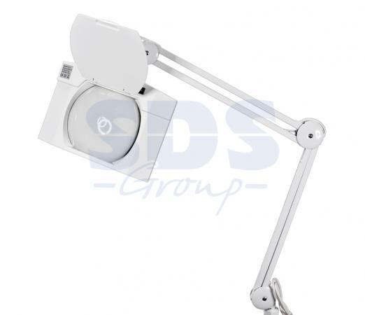 Лупа на струбцине квадратная 5D с подсветкой 108LED, белая REXANT цена и фото