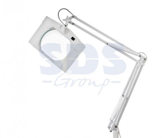Лупа на струбцине квадратная 5D с подсветкой, белая REXANT цена и фото