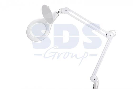 Лупа на струбцине круглая 5D с подсветкой 108LED, белая REXANT цена и фото