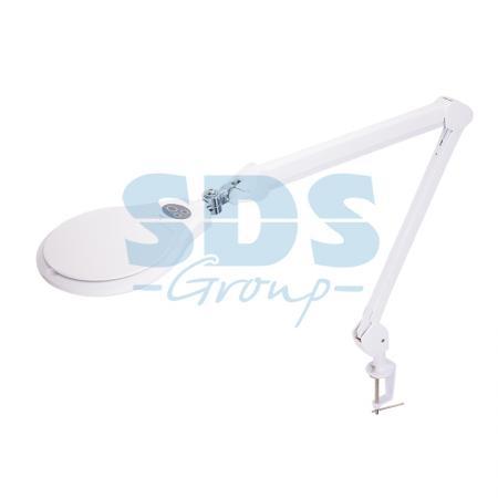 Лупа на струбцине круглая 5D с подсветкой 60LED, регулировка яркости, белая REXANT цена и фото