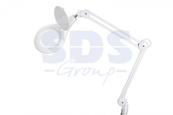 Лупа на струбцине круглая 5D с подсветкой 90LED, белая REXANT цена и фото
