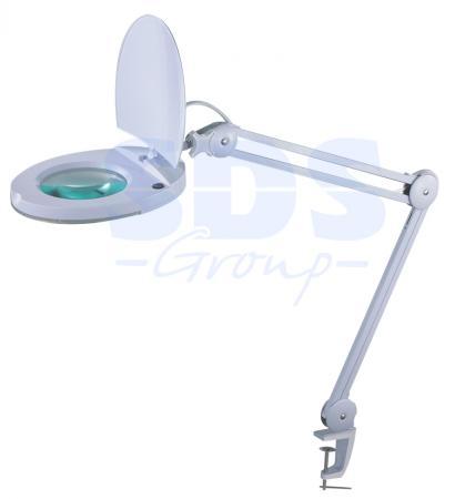 Лупа на струбцине круглая 8D с подсветкой с крышкой, белая REXANT 31-0221 rexant 3x 12x с подсветкой white 31 0242
