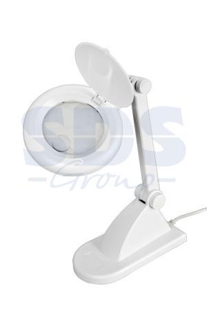 Лупа настольная 3D+12D с подсветкой, белая REXANT лупа настольная rexant 3x с подсветкой и сенсорным регулятором 60 led white 31 0531