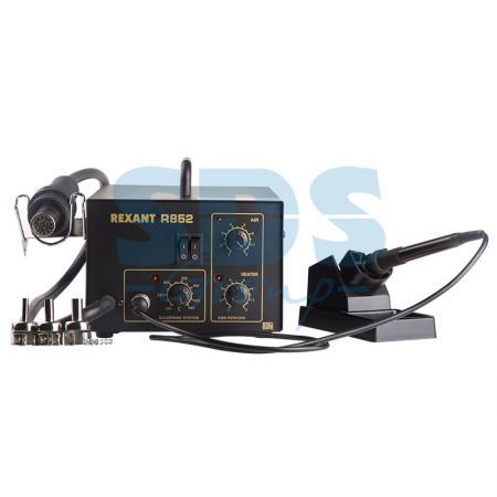 Паяльная станция (паяльник + термофен) 150-500°С (R852) REXANT паяльная станция crack quick203h 50 600