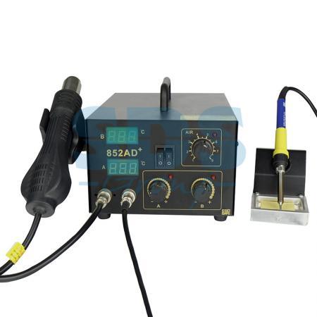 Паяльная станция (паяльник + термофен) с цифровым дисплеем 100-480°С (R852AD+) REXANT паяльная станция crack quick203h 50 600