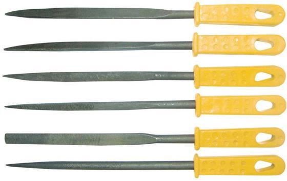 Набор надфилей BIBER 85315  160мм с пластиковой ручкой набор 6шт.
