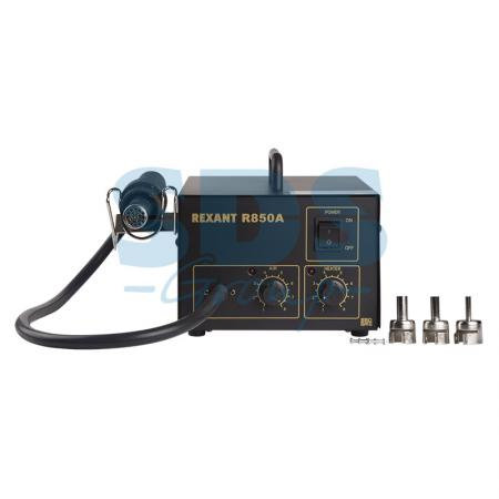 Паяльная станция (термофен) термовоздушная 150-500°С (R850A) REXANT паяльная станция crack quick203h 50 600