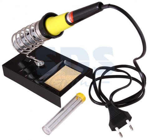 Набор для пайки (паяльник 30 Вт, оловоотсос, подставка, припой) REXANT флюс для пайки rexant скф 30ml 09 3640