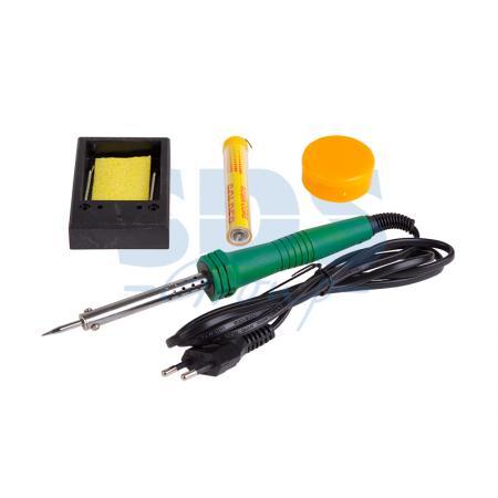 Набор для пайки №11 (паяльник 30Вт, подставка, губка для удаления припоя, канифоль, припой) REXANT набор для пайки 6 предметов rexant