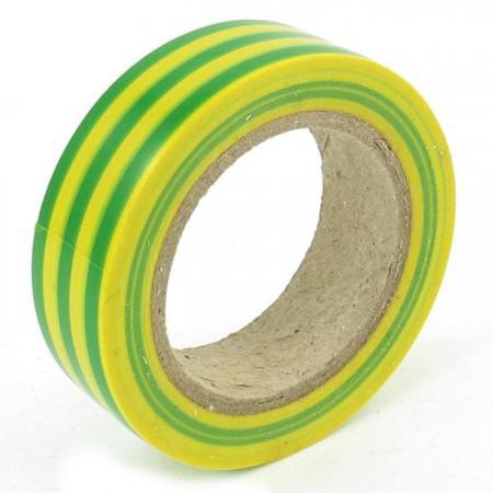 Изолента 19мм х 25м желто-зеленая REXANT изолента еврогарант желто зеленая 19мм х 20м