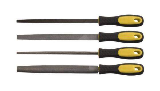 Набор инструментов FIT 42596 набор напильников 4 шт(трехгранный плоский круглый полукруглый 200мм)