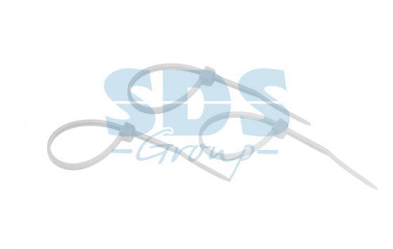 Фото - Хомут nylon 100 x 2,5 мм 25шт белый REXANT 07-0100-25 хомуты металлические стандартное болтовое крепление 170 190мм 25шт уп ширина 9мм сибртех