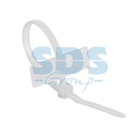Хомут под маркер nylon 100 x 2,5 мм 100 шт белый REXANT 12pcs hgw15ca 100