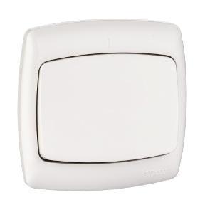 Выключатель SCHNEIDER ELECTRIC S16-067-BI Рондо белый 1-клавишный 6А в сборе