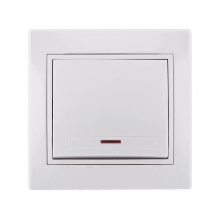 Выключатель LEZARD 701-0202-111 серия скр.проводки Мира подсветка белый