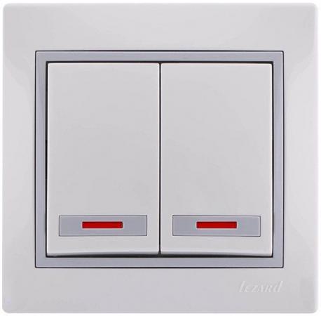 Выключатель LEZARD 701-0215-112 10 A серый